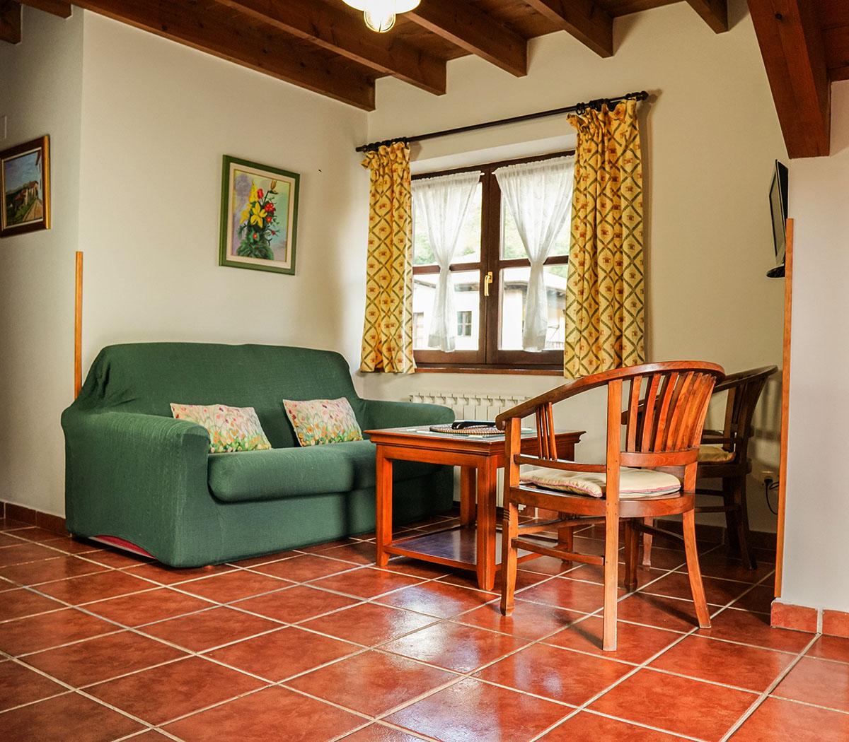 salón apartamento con terraza